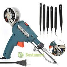 110 220v 60w Manual Heating Soldering Iron Auto Send Tin Gun Welding Repair Tool