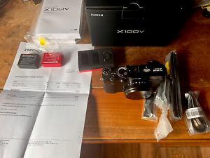 Fujifilm X100V schwarz -6500 Auslösungen - Top ***Kaufdatum 10.6.2021