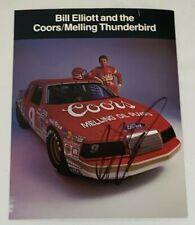 Bill Elliott signed 1986 VINTAGE NASCAR THUNDERBIRD WINSTON CUP HERO photo HOFer