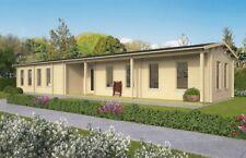 70 mm Ferienhaus ISO + Fußboden 1640x490 cm Gartenhaus Blockhaus Holzhaus Holz