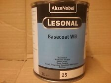 Lesonal WB 25   Water Based tinter 1 litre tin  Akzo Car refinish basecoat paint