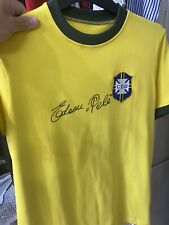 More details for pele signed shirt unframed with coa full signature