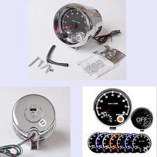 """3.75"""" Car Tachometer Gauge 7 LED Colors Adjustable 0-8000 RPM Shift-Light"""