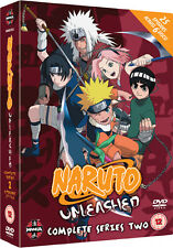 NARUTO UNLEASHED  TO  COMPLETE SERIES 2 - DVD - REGION 2 UK