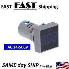 Panel Mount AC volt meter - BLUE - digital AC mater High Voltage Meter 24-500V