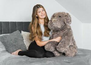 80CM LARGE CUTE HUGE COCKER SPANIEL DOG PUPPY TEDDY SITTING STUFFED PLUSH LYING