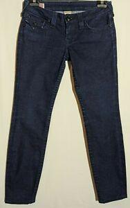 """Women's True Religion Jeans Julie Tapered Stretch Dark Blue Size 11 Leg 30"""""""