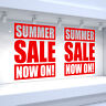 2 x SUMMER SALE NOW ON! Shop Window Vinyl Stickers Retail Decals