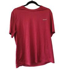 Reebok Play Dry Mens Short Sleeve Athletic T Shirt Performans Maroon Size Medium