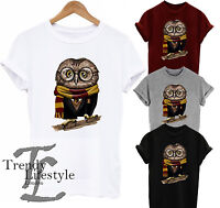 HARRY POTTER INSPIRED OWL  PRINT T-SHIRT  UNISEX CRAFTED FROM 100% COTTON