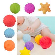 6pcs Baby Kid Soft Ball Toy Sensory Developmental Learning Grasping Colorful