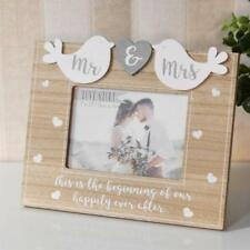 Wedding Gift Wooden Birds Photo Frame Mr and Mrs New Boxed WG936