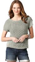 NWT ANN TAYLOR LOFT Gray Cable Knit Swing Boat Neck Dolman Slv Sweater $49 XS-L