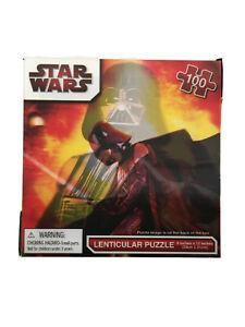 "Jigsaw Puzzle STAR WARS - DARTH VADER Lenticular 3D 100 pieces 9""x 12"" - NEW"
