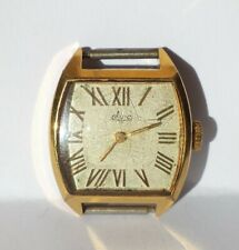VINTAGE OLD USSR WATCH GOLD PLATED AU 12,5 LADIES LUCH.