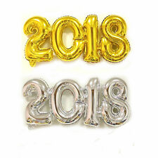 2018 Number Foil Balloon Gold / Silver Happy New Year Room Party Decoration