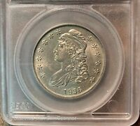 1836 Capped Bust Silver Half Dollar BU UNC Details  Free Shipping!