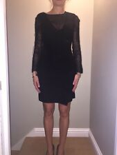 STUNNING BLACK WOOL DRESS SIZE 8 BY COSTUME NATIONAL