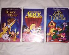 Disney Black Diamond VHS Tape Lot Of 3 Classics! Rare Beauty And Beast, Alice...