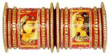 Indian Jewelry Bollywood Kada Bangle Ethnic Traditional Red Wedding Set Bracelet