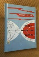 What's inside the Earth?  by Herbert Zim 1953 VTG Hardcover RARE