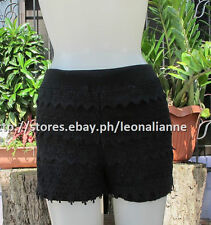 50% OFF! AUTH FOREVER 21 SOFT LACE BLACK SHORTS MEDIUM BNEW SRP US$ 15.90+