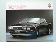 PROSPEKT MASERATI KARIF 2,8 L 225 CV, 1989, 6 pagine, lucido, francese
