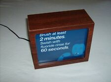 New listing Dentist office wood lighted panel brush 2 minutes rinse 60 seconds display sign