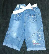 Mädchenjeans Gr. 80 kurze Hose Jeans wadenlang mit verstellbaren Gummizug