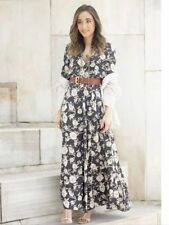 Zara Viscose Long Sleeve Floral Dresses for Women