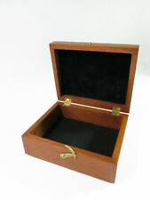 Refinished Antique Mahogany Presentation/Jewelry Box — Original Hardware — Lined