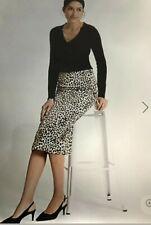 BNWT M&S Per Una Satin Animal Print Pencil Midi skirt Size 8