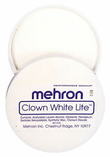 Clown White Mehron Makeup 56g Lite Professional Mime Face Costume Greasepaint