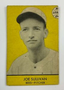 1941 Goudey Baseball #22 Joe Sullivan Bos NL (Yellow) OOK10