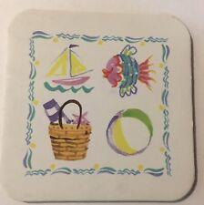 Longaberger Set Of 2 Coasters Summer Time Celebrations Cork Back