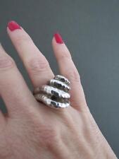 Vintage Silver Modernist Mid Century Ring