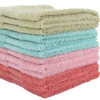 2 Pcs 100% Cotton Face Towels Cloth Flannels Wash Cloths Gift Packed 34 x 34cm
