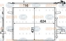 HELLA Kondensator, Klimaanlage für Klimaanlage 8FC 351 319-401