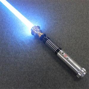 YDD Star Wars Luke Skywalker Lightsaber Silver Metal 16 Colors RGB Light Replica