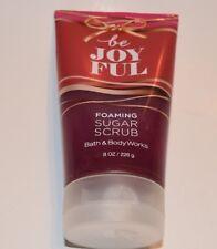 New Sealed Bath & Body Works BE JOYFUL Foaming Sugar Scrub  8 oz