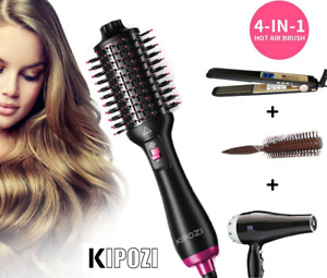 4in1 One-Step Hair Dryer Styler Volumizer Straightener Curler Comb Hot Air Brush