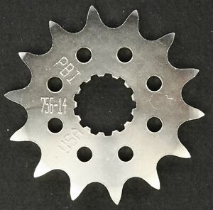 PBI - 756-14 -  Front Countershaft Sprocket, 14T - Made In USA