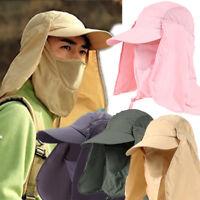 Military Baseball Cap Camping Hiking Fishing Ear Neck Face Cover Visor Sun Hat
