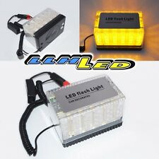 MAGNETIC 48 LED EMERGENCY/WARNING FLASH YELLOW STROBE LIGHT ROOF TOP DC12V