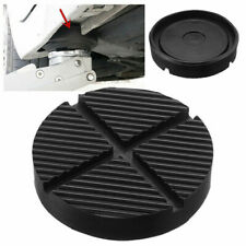 1x Universal Car Cross Slotted Frame Rail Floor Jack Rubber Pad Adapter For Weld