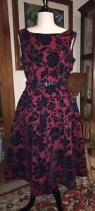 Stunning Retro Vintage Style Review Dress Size 14