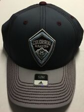 Colorado Rapids Adidas Authentic Two Tone Structured Stretch Flex Fit Hat S/M