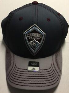 Colorado Rapids Adidas Authentic Two Tone Structured Stretch Flex Fit Hat S/M