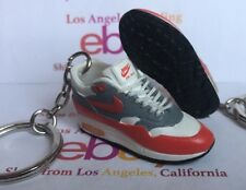 Air Max 1 OG White Red 1987 Keychain WITH LACES Sample 95 97 270 360 One 90