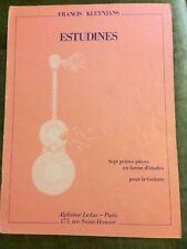 Francis Kleynjans Estudines pour guitare sept pièces partition éditions Leduc